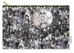 Carry-all Pouch featuring the photograph Snow Flake by Ulrich Schade