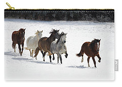 Snow Gallop Carry-all Pouch
