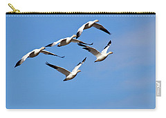 Snow Geese Flormation Carry-all Pouch by Elvira Butler