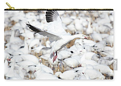 Snow Goose Lift-off Carry-all Pouch