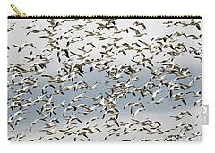 Carry-all Pouch featuring the photograph Snow Goose Storm by Mike Dawson