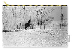 Snow Horse Carry-all Pouch