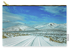 Carry-all Pouch featuring the photograph Snow In Death Valley by Peter Tellone