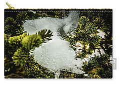 Snow In The Trees Carry-all Pouch by Bill Howard