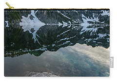 Snow Lake Chair Peak Dusk Reflection Carry-all Pouch by Mike Reid