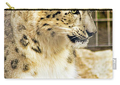 Carry-all Pouch featuring the photograph Snow Leopard 1 by Ayasha Loya