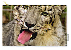 Carry-all Pouch featuring the photograph Snow Leopard 2  by Ayasha Loya
