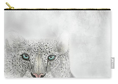 Snow Leopard Carry-all Pouch by Darren Cannell