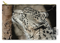 Snow Leopard Carry-all Pouch by Lisa L Silva
