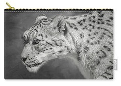 Carry-all Pouch featuring the digital art Snow Leopard by Nicole Wilde