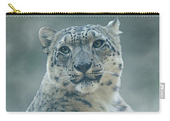 Carry-all Pouch featuring the photograph Snow Leopard Portrait by Sandy Keeton