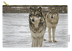 Carry-all Pouch featuring the photograph Snow Mates by Shari Jardina