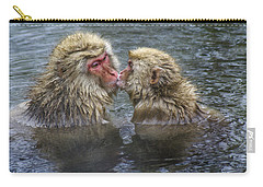 Snow Monkey Kisses Carry-all Pouch