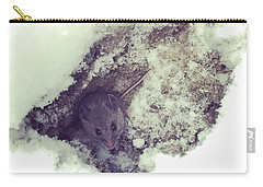 Carry-all Pouch featuring the photograph Snow Mouse by Rasma Bertz