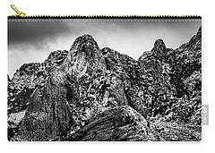 Carry-all Pouch featuring the photograph Snow On Peaks 46 by Mark Myhaver