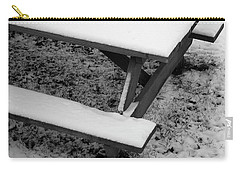 Snow On Picnic Table Carry-all Pouch