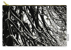 Snow On Pine Boughs Carry-all Pouch by Timothy Bulone