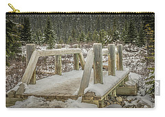 Snow On The Bridge Carry-all Pouch by Bill Howard