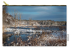 Snow On The Marsh Carry-all Pouch