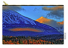 Carry-all Pouch featuring the photograph Snow Peak Fall by Scott Mahon