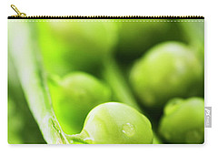 Snow Peas Or Green Peas Seeds Carry-all Pouch by Vishwanath Bhat