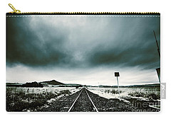 Carry-all Pouch featuring the photograph Snow Railway by Jorgo Photography - Wall Art Gallery