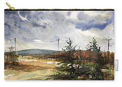 Snow Sky In Fall Carry-all Pouch by Judith Levins