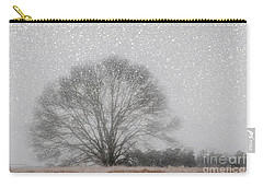 Snow Storm Tree Carry-all Pouch