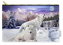 Snow Wolves Of The Wild Carry-all Pouch