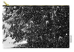 Carry-all Pouch featuring the photograph Snow by Yulia Kazansky