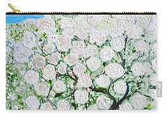 Snowballs Flowers Carry-all Pouch by Evelina Popilian