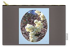 Carry-all Pouch featuring the photograph Snowberry Cluster by Will Borden