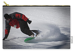 Carry-all Pouch featuring the photograph Snowboarder On Mccauley by David Patterson