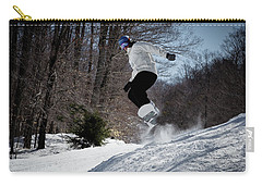 Carry-all Pouch featuring the photograph Snowboarding Mccauley Mountain by David Patterson
