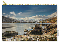 Carry-all Pouch featuring the photograph Snowdon From Llynnau Mymbyr by Adrian Evans