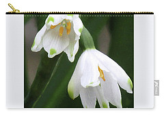 Snowdrops #4 Carry-all Pouch by Kim Tran