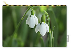Carry-all Pouch featuring the photograph Snowdrops by Mary Jo Allen