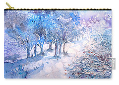 Snowfall In A Moonlit Wood Carry-all Pouch