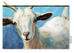 Snowflake, A Baby Cashmere Goat Carry-all Pouch