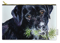Carry-all Pouch featuring the painting Snowflake by Molly Poole