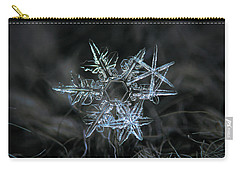 Carry-all Pouch featuring the photograph Snowflake Of 19 March 2013 by Alexey Kljatov