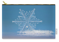 Carry-all Pouch featuring the photograph Snowflake Photo - Cloud Number Nine by Alexey Kljatov