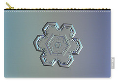 Snowflake Photo - Flower Within A Flower Carry-all Pouch