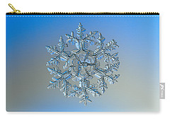 Carry-all Pouch featuring the photograph Snowflake Photo - Gardener's Dream by Alexey Kljatov