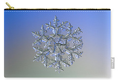 Carry-all Pouch featuring the photograph Snowflake Photo - Gardener's Dream Alternate by Alexey Kljatov