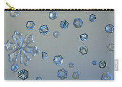 Snowflake Photo - Ice Dust II Carry-all Pouch