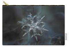 Carry-all Pouch featuring the photograph Snowflake Photo - Rigel by Alexey Kljatov