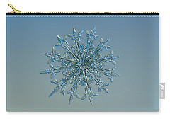 Carry-all Pouch featuring the photograph Snowflake Photo - Twelve Months by Alexey Kljatov