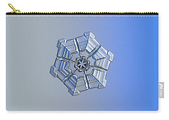 Carry-all Pouch featuring the photograph Snowflake Photo - Winter Fortress by Alexey Kljatov