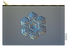 Snowflake Photo - Winter Technologies Carry-all Pouch